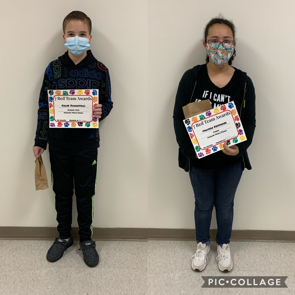 Left: Kaleb S. (Advanced Math); Right: Madyson K. (Science)