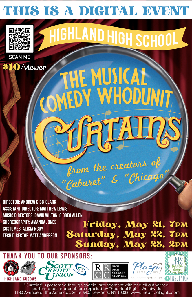 HHS Presents Curtains!