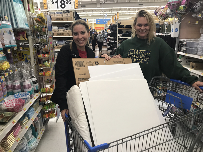 1st grade teachers go shopping for our Illinois birthday party celebration!  There is a lot of planning and preparation that goes into this day.  Thanks 1st grade teachers for all your work behind the scenes!