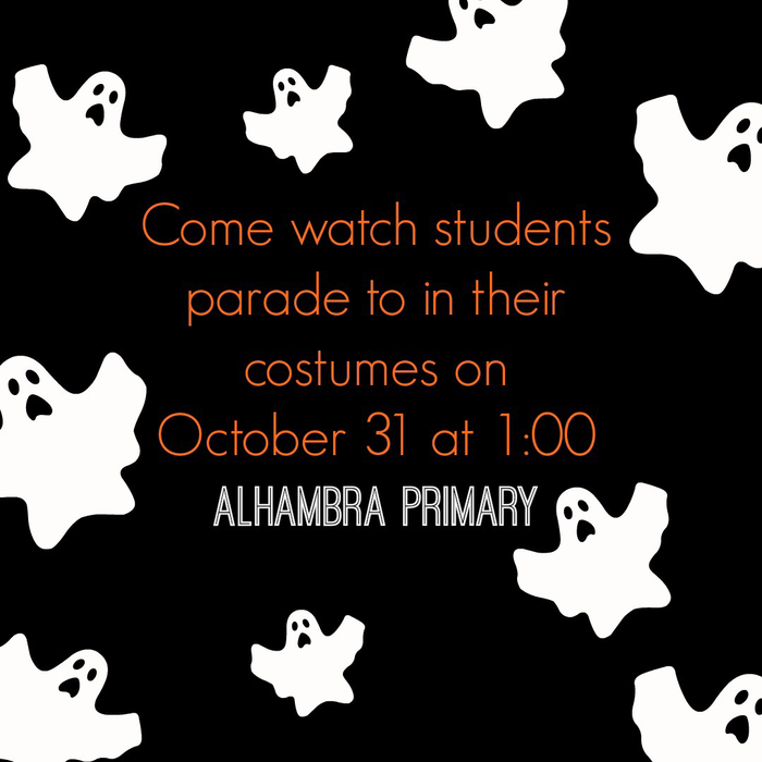 Halloween Parade on Wednesday at 1:00!🧡