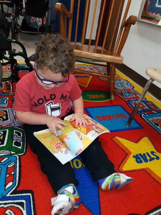 Aiden reading one of his favorite books!