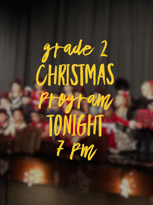 Christmas program tonight