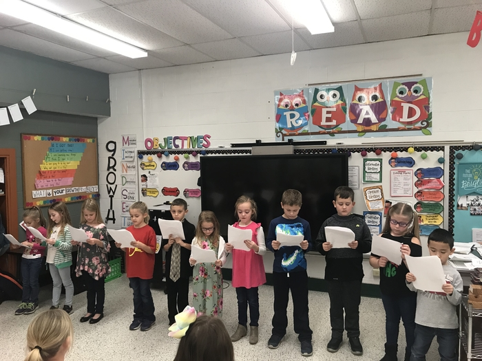 The first graders at AP did a great job on their Christmas Reader's Theater performance! 🎄