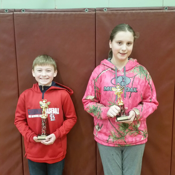 Grant with 1st place and Karley with 2nd place