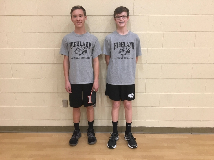 P2 Ping pong 8th grade 1st place Mason E.  2nd place Owen H.