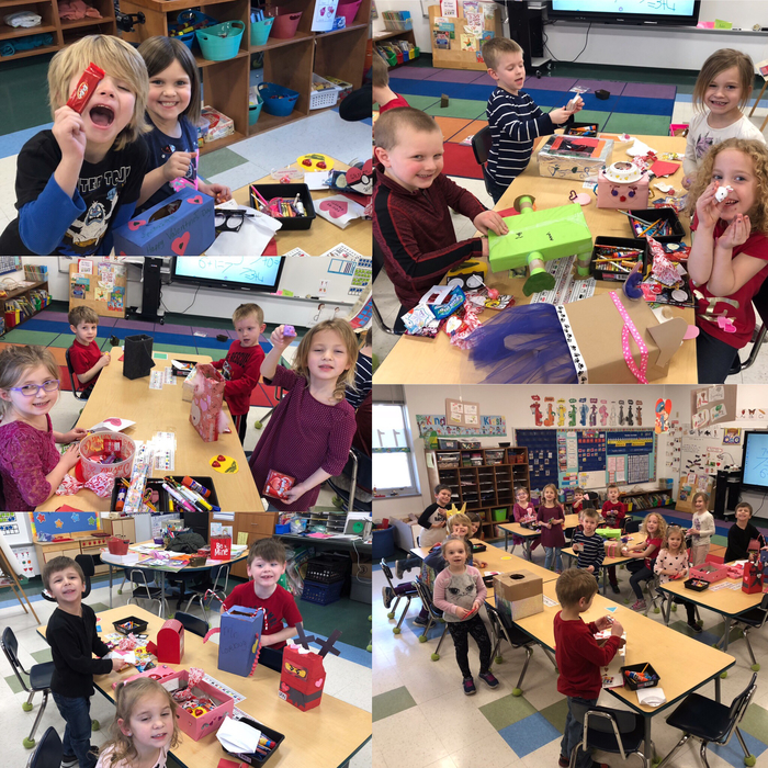 Kindergarten friends celebrating Valentine's Day ❤️
