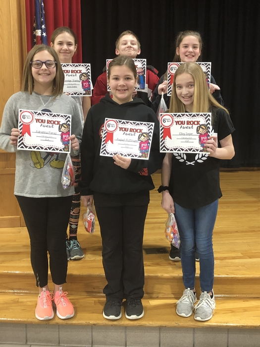 Congratulations to 6 Red's You Rock winners for February!
