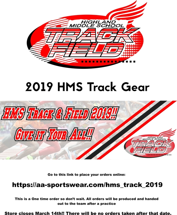 2019 Track Team Apparel Sale