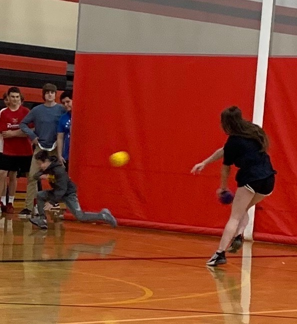 Kyleigh dominating dodge ball