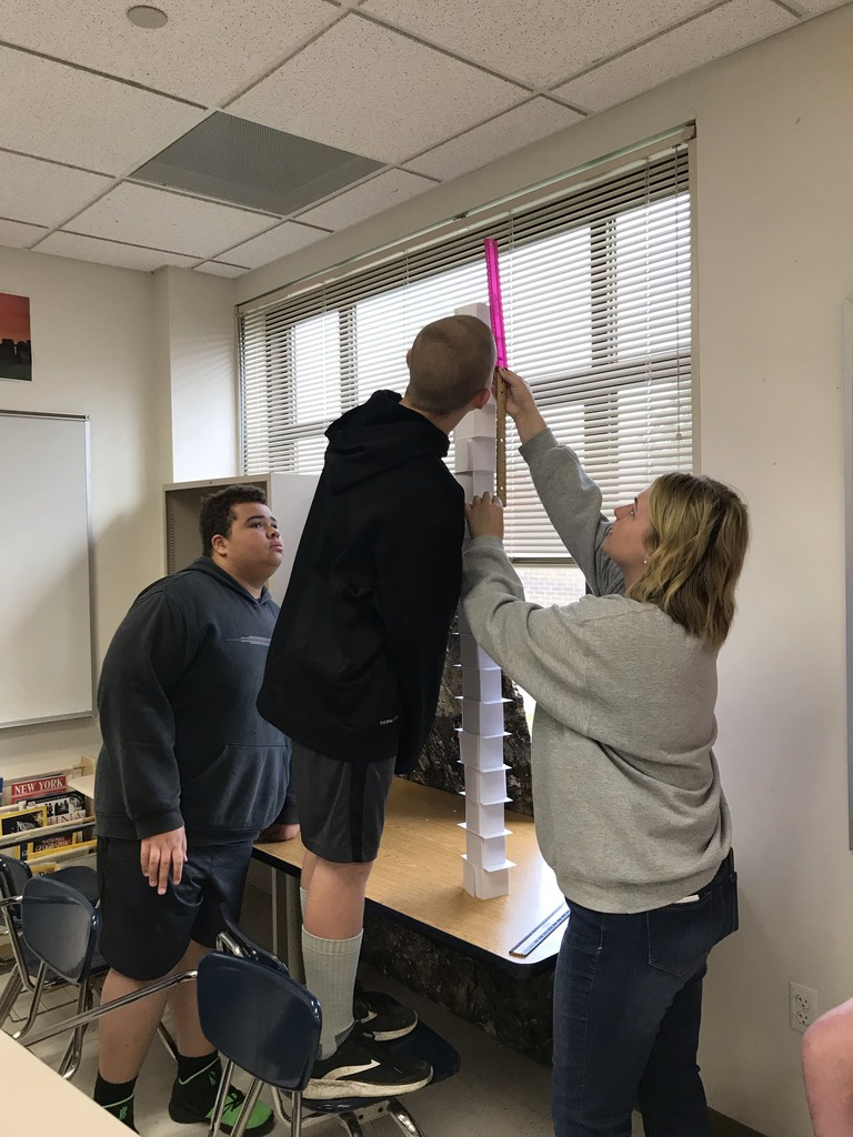 Students used their critical thinking skills and teamwork to build the tallest card towers.
