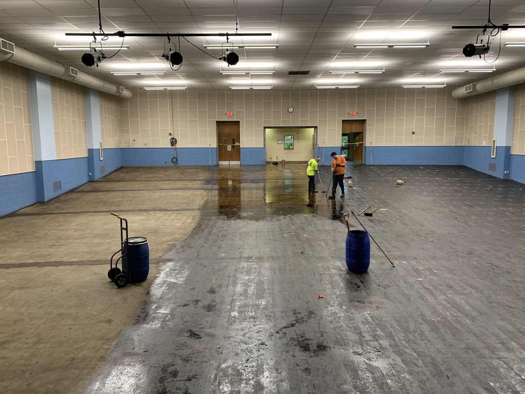 The auditorium and floor maintenance.
