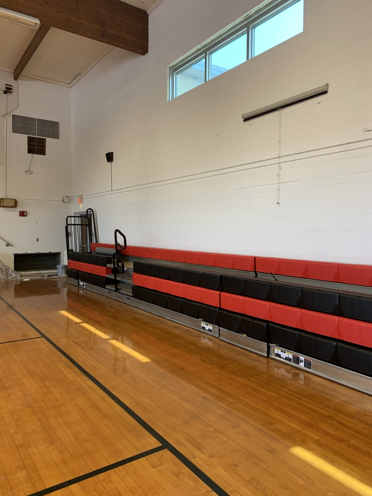 The new bleachers are in!