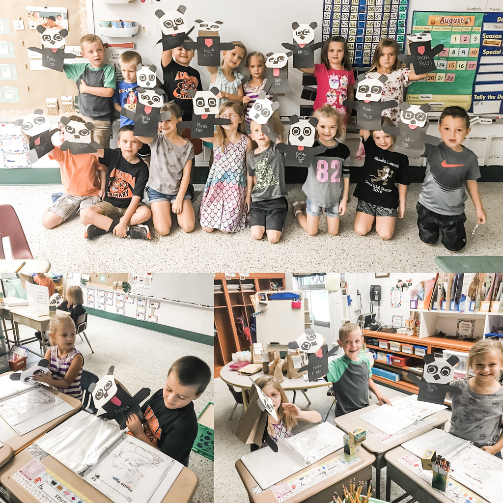 Mrs. Kronk's first grade studies word parts with poetry and panda puppets!