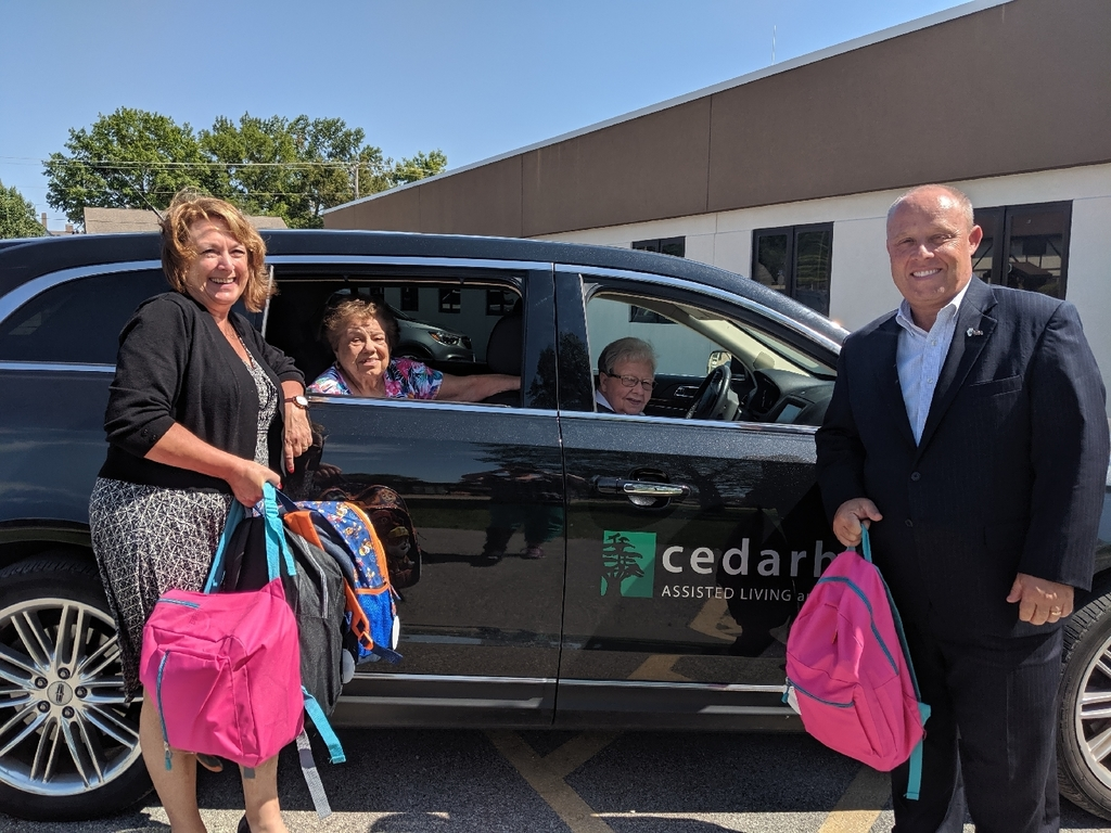 Cederhurst Assisted Living donates school supplies