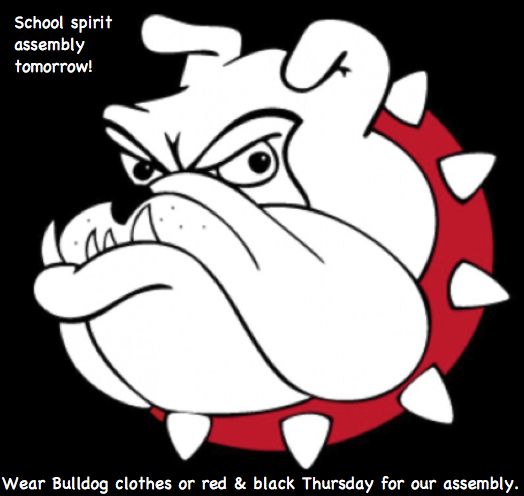 Wear Bulldog clothes tomorrow.