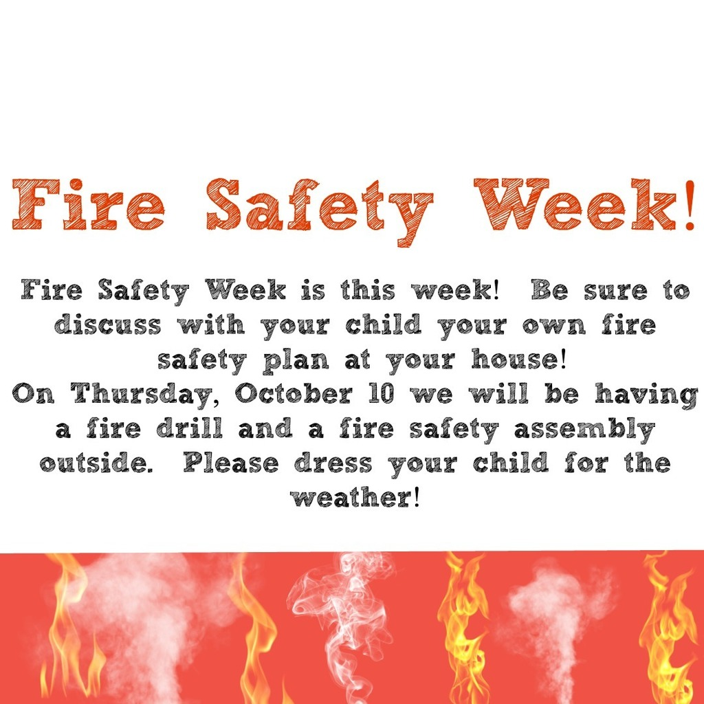 Fire Safety Day is tomorrow!