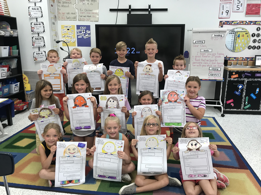 Mrs. Warnecke's class writes friendly letters in style!
