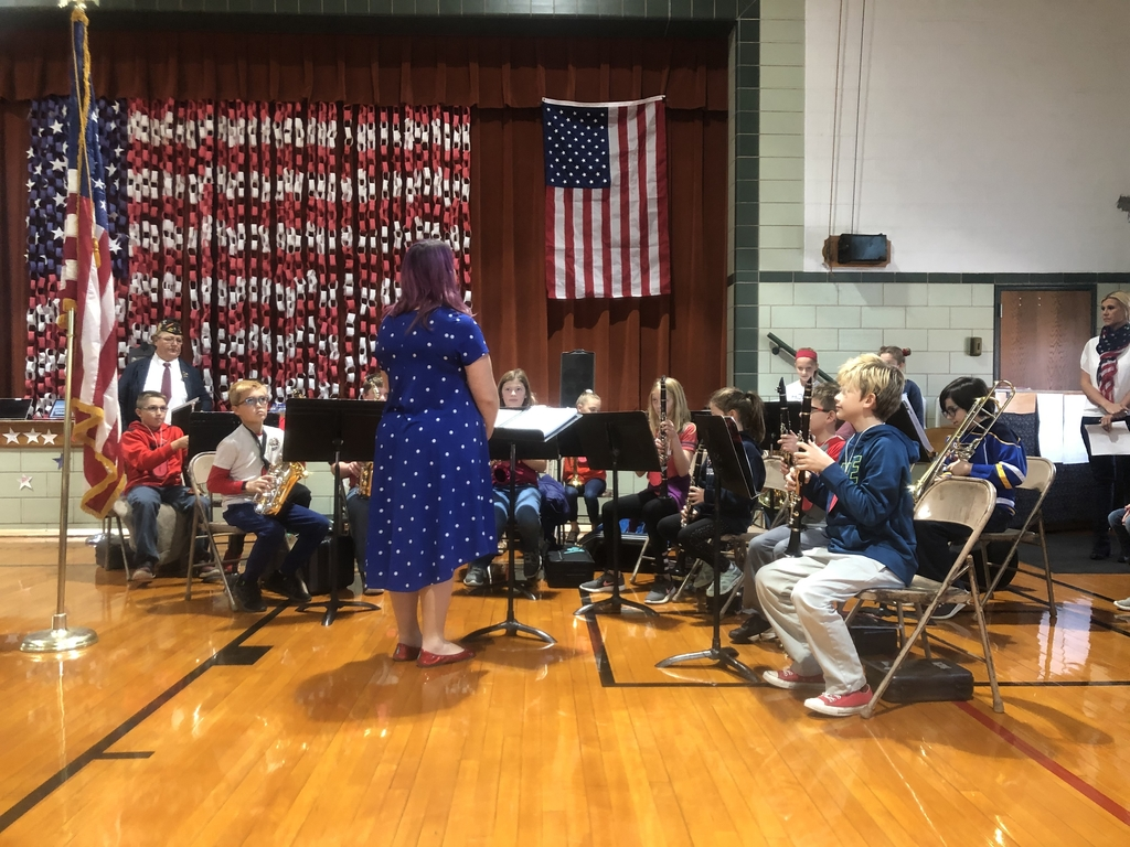 Our fifth grade band playing American folk songs.
