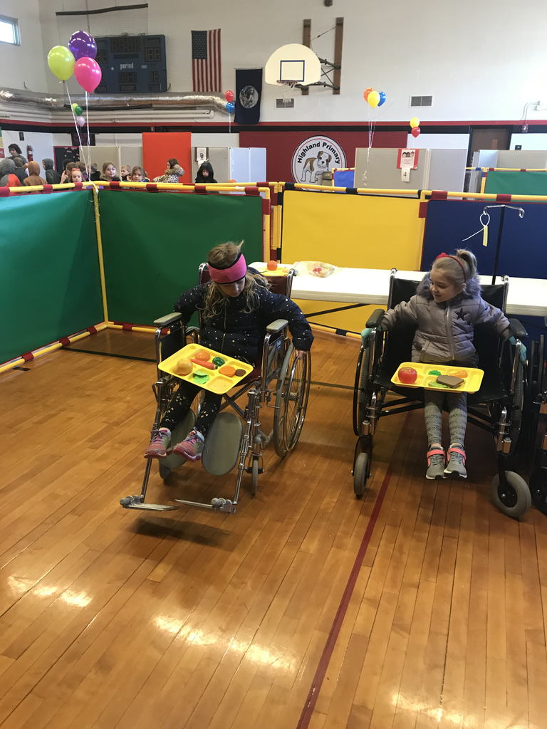 Mrs. Kronk and Mrs. Snyder's First grade classes traveled to Highland Primary for The Friendship Fair. This event is designed to teach awareness and acceptance of differences some students might have.