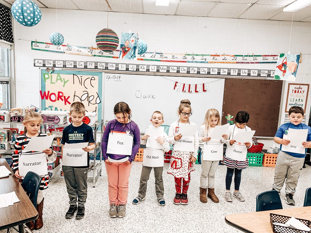 First graders reciting The Gingerbread Boy!
