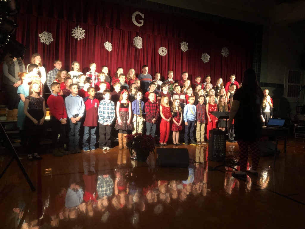 All of Grantfork Elementary performing a Christmas Carol.