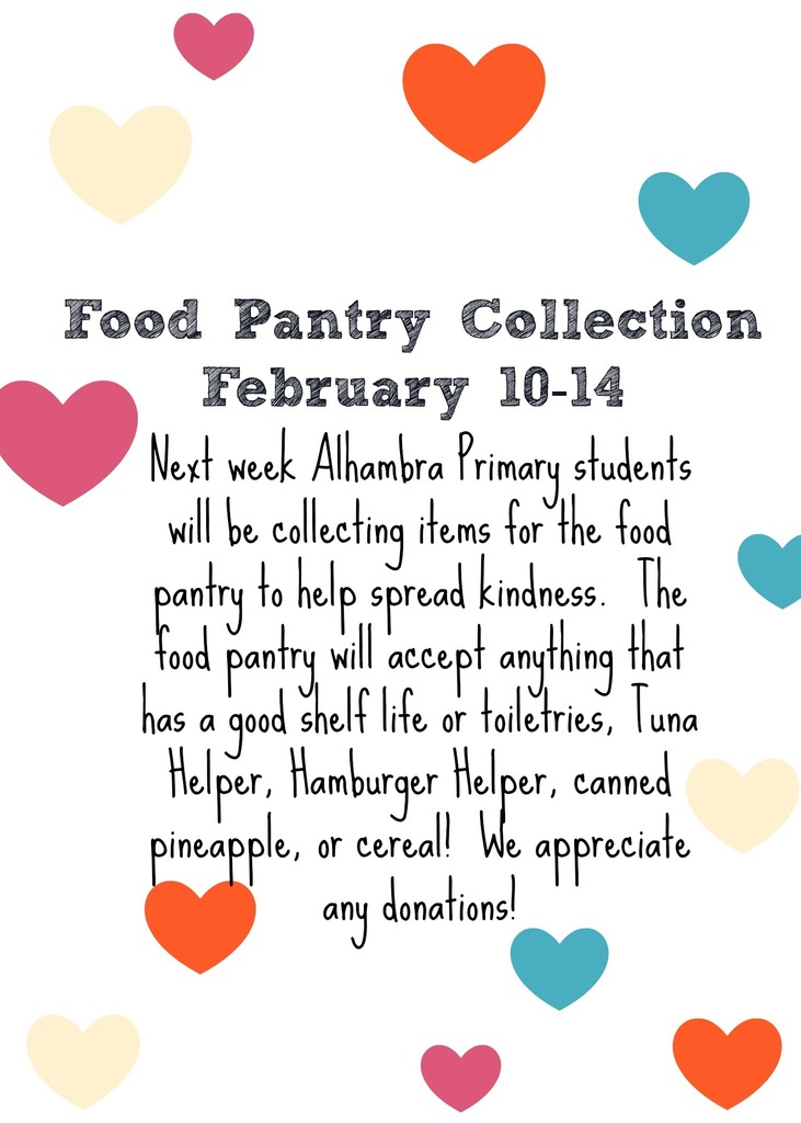 Food Pantry Collection!!