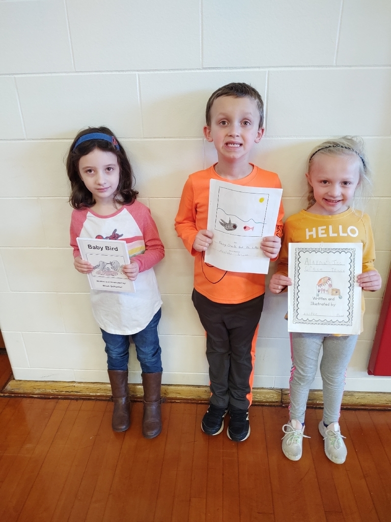 Young Author district winners.