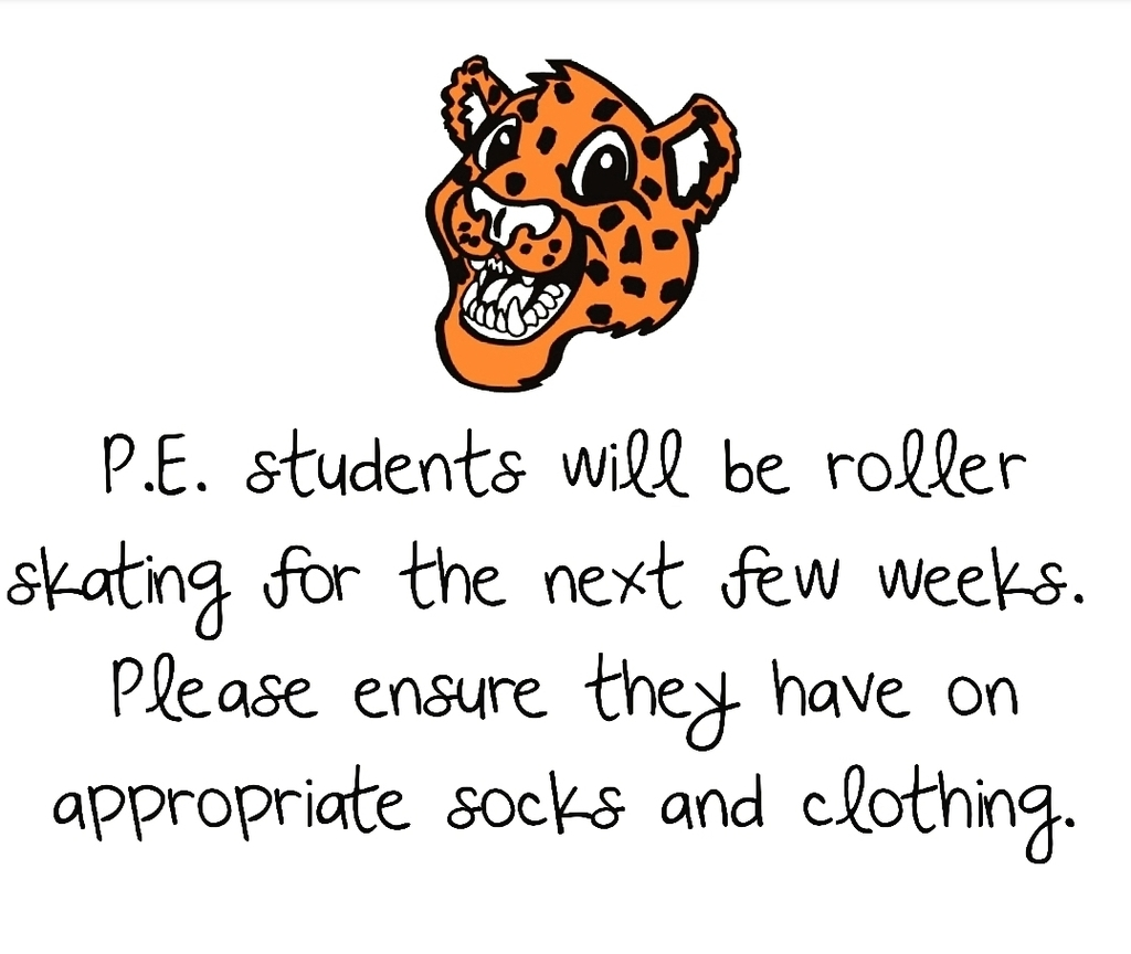 P.E. students will be roller skating the next few weeks!
