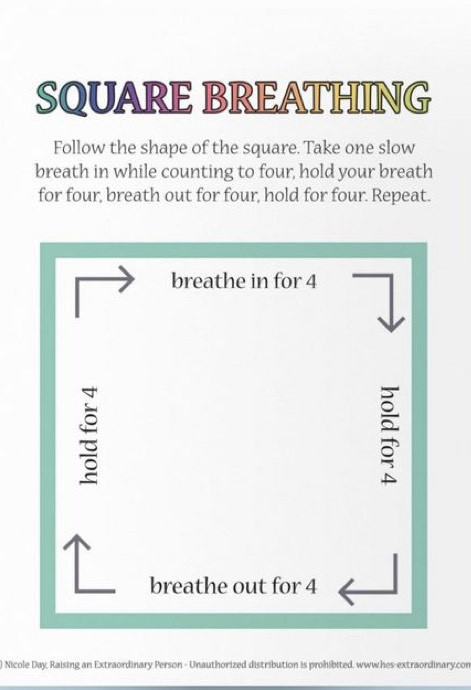 Square breathing when you need a quick break!