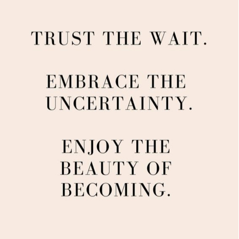 Embrace the Uncertainty.