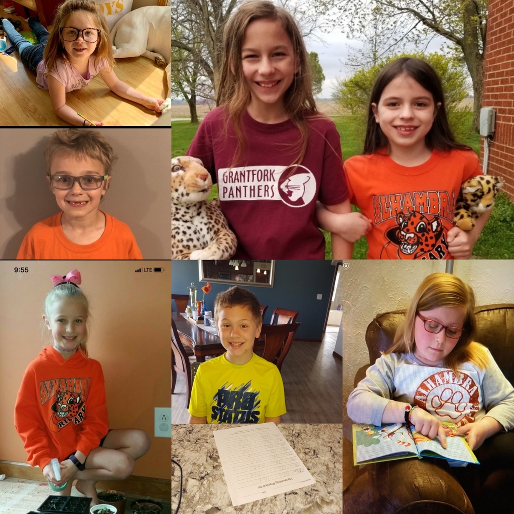 🧡🖤Second graders are working hard at home and showing their AP spirit!!🧡🖤