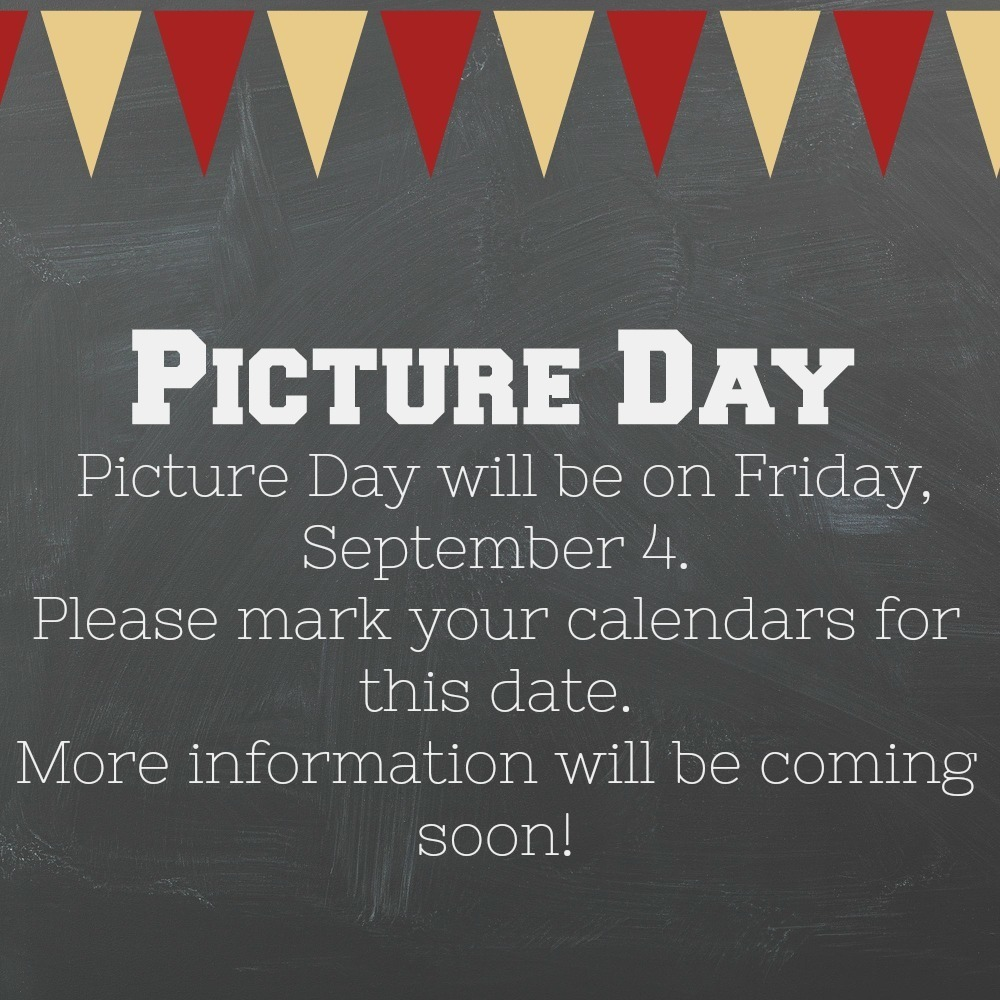 Picture Day will be on September 4 at Alhambra Primary!