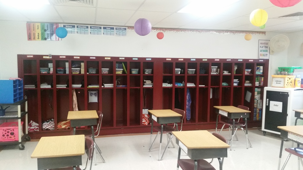Lockers completed